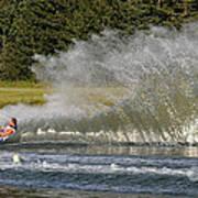 Water Skiing 4 Art Print