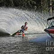 Water Skiing 8 Art Print