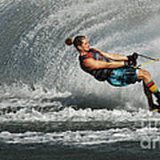 Water Skiing Magic Of Water 23 Art Print