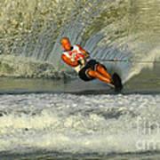 Water Skiing Magic Of Water 4 Art Print by Bob Christopher