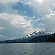 Water Snow Vapor Lake Tahoe Art Print