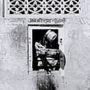 Water Vendor In Jaipur Art Print