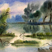 Water View Landscape Print by Cristina Movileanu