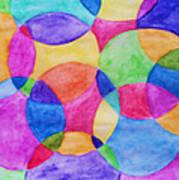 Watercolor Circles Abstract Art Print