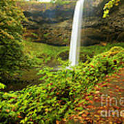 Waterfall Along The Trail Art Print