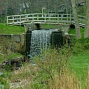 Waterfall And Bridge Art Print