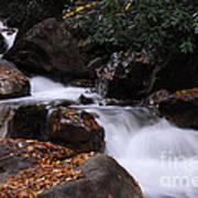 Waterfall In Fall Art Print