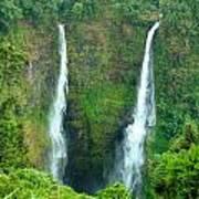 waterfall in Laos Art Print