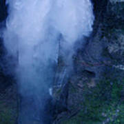 Waterfall In Spain  Near Granada Art Print