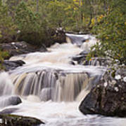 Waterfall In The Highlands Art Print
