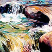 Waterfall Maui Art Print