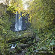 Waterfall Of Vaucoux. Puy De Dome. Auvergne. France Art Print