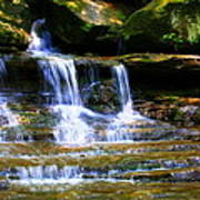 Waterfall Trio At Mcconnells Mill State Park Art Print