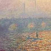 Waterloo Bridge Art Print by Claude Monet
