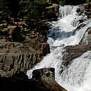 Waters Flow Glen Alpine Falls Art Print