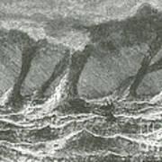 Waterspouts Art Print