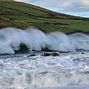 Waves In Dingle Art Print by Barbara Walsh