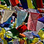 Waving Prayer Flags Art Print