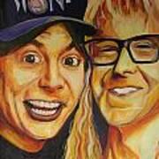 Wayne And Garth Art Print