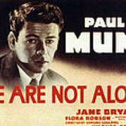 We Are Not Alone, Paul Muni, 1939 Art Print by Everett