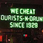 We Cheat Drunks Since 1929 Art Print