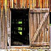 Weathered Barn Door Art Print
