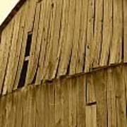 Weathered Barn I In Sepia Art Print