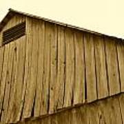 Weathered Barn II In Sepia Art Print