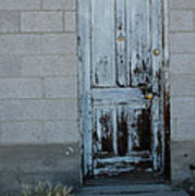 Weathered Door Virginia City Nevada Art Print