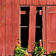 Weathered Red Barn Window Of New Jersey Art Print