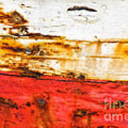 Weathered With Red Stripe Art Print by Silvia Ganora