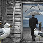 Weathering The Gulls Art Print