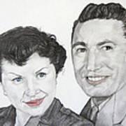 Wedding Day 1954 Art Print
