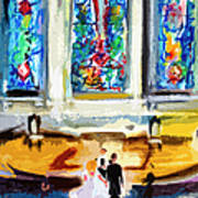 Wedding Day At Second Presbyterian Church Charleston Sc Art Print