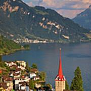 Weggis Switzerland Art Print