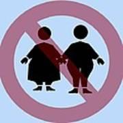Weight Discrimination, Computer Artwork Print by Christian Darkin
