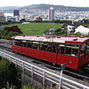 Tram Car Viewpoint - Wellington, New Zealand Art Print