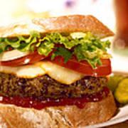 Wendy's Burger Art Print
