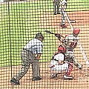 Werth Swings For Phillies Art Print