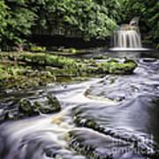 West Burton Falls Yorkshire Dales Uk Art Print