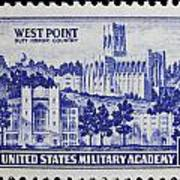 West Point Postage Stamp Art Print