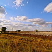 West Texas Cotton Harvest Art Print