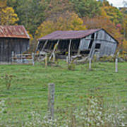 West Virginia Barn 3211 Art Print