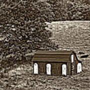 West Virginia Sepia Art Print