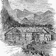 Western Fort, 19th Century Art Print