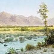 Western Landscape Print by Albert Bierstadt