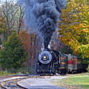 Western Maryland Steam Train Art Print
