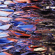 Wet Cobblestone Road Art Print