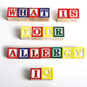 What Is Your Allergy Iq Art Print