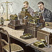 Wheatstone Telegraph System Art Print by Sheila Terry